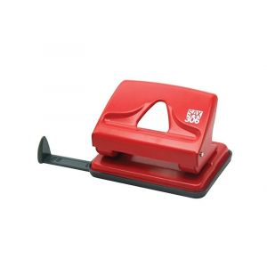 Dziurkacz SAX306, dziurkuje do 20 kartek, czerwony