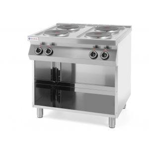 Kuchnia elektryczna 4-płytowa Kitchen Line na podstawie otwartej - kod 226223