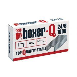 Zszywki ICO Boxer, 24/6, galwanizowane, 1000szt.