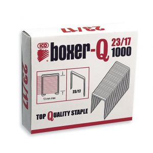 Zszywki ICO Boxer, 23/17, galwanizowane, 1000szt.