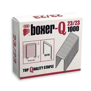 Zszywki ICO Boxer, 23/23, galwanizowane, 1000szt.
