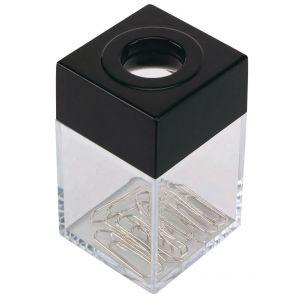 Pojemnik magn. na spinacze Q-CONNECT, mały, transparentny czarny