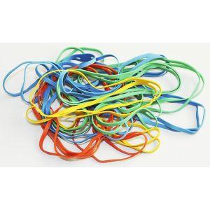 Gumki krzyżowe Q-CONNECT, 0,1kg, średnica 100mm, mix kolorów
