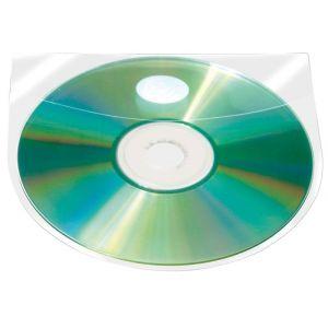 Kieszeń samoprzylepna Q-CONNECT, na 2-4 płyty CD/DVD, 127x127mm, 10szt.