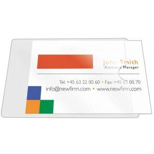 Kieszeń samoprzylepna Q-CONNECT, na wizytówki, rozc. na kr. boku, 60x95mm, 10szt.