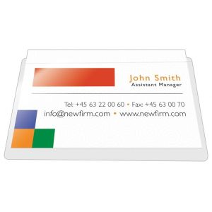 Kieszeń samoprzylepna Q-CONNECT, na wizytówki, rozc. na dł. boku, 60x95mm, 10szt.