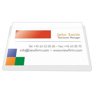 Kieszeń samoprzylepna Q-CONNECT, na wizytówki, rozc. na dł. boku, 60x95mm, 100szt.
