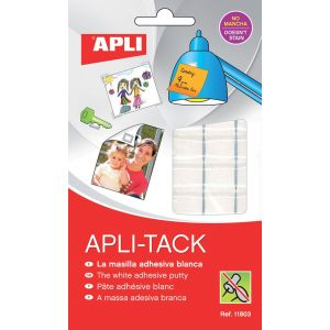 Masa mocująca APLI Apli-Tack, podzielona, 75g, biała