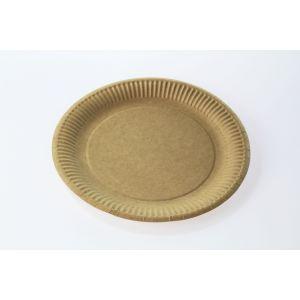 Talerz papierowy NATURE brązowy 18cm gramatura 300g, cena za 50 sztuk