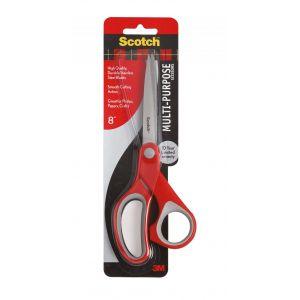 Nożyczki biurowe SCOTCH® (1428), ergonomiczne, 20,5cm, czerwono-szare