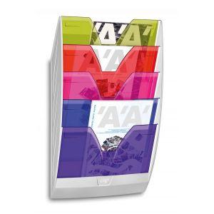 Zestaw naścienny CEP ReCaption, 5 półek, mix kolorów