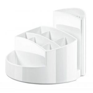 Przybornik na biurko HAN Rondo, 9 komór, biały