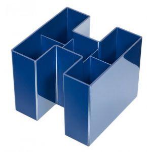 Przybornik na biurko HAN Bravo, 5 komór, niebieski