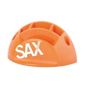 Przybornik na biurko SAX Design, z przegrodami, pomarańczowy