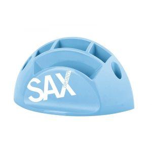 Przybornik na biurko SAX Design, z przegrodami, jasnoniebieski