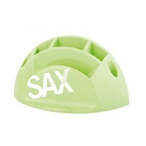 Przybornik na biurko SAX Design, z przegrodami, jasnozielony