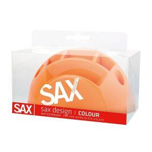 Przybornik na biurko SAX Design, z przegrodami, blister, pomarańczowy