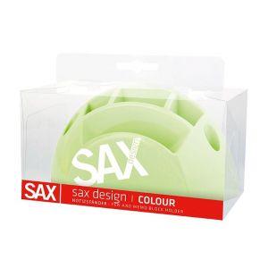 Przybornik na biurko SAX Design, z przegrodami, blister, jasnozielony