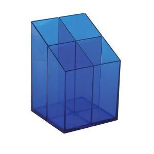 Przybornik na biurko ICO, z przegrodami, niebieski