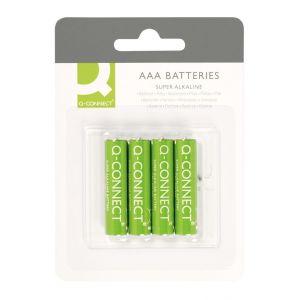 Baterie super-alkaliczne Q-CONNECT AAA, LR03, 1,5V, 4szt.