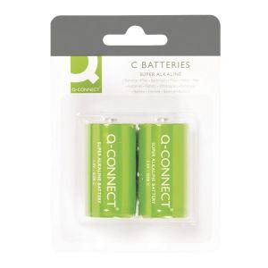 Baterie super-alkaliczne Q-CONNECT C, LR14, 1,5V, 2szt.