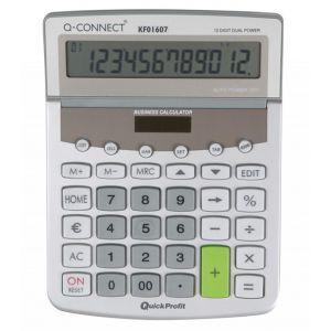Kalkulator biurkowy Q-CONNECT Premium 12-cyfrowy, 154x205mm, szary