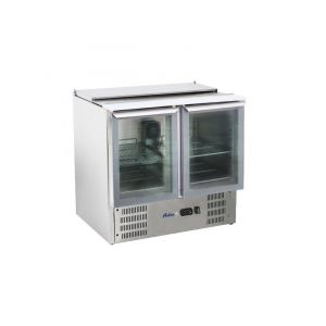 Salad cooling tables with hinged lid 2-WIRE Glazed