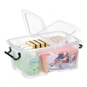 Pojemnik biurowy CEP Smartbox, 12l, transparentny