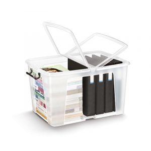 Pojemnik biurowy CEP Smartbox, 65l, transparentny