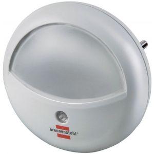 Lampka nocna BRENNENSTUHL do korytarza, okrągła, biała