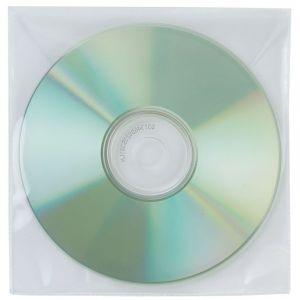 Koperty na płyty CD/DVD Q-CONNECT, 50szt., transparentny