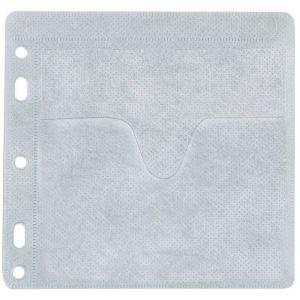 Koperty na 2 płyty CD/DVD Q-CONNECT, do wpinania, 40szt., białe