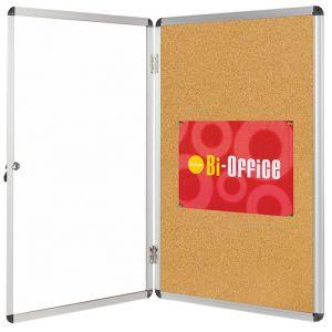 Cork Display Case BI-OFFICE, 15xA4, 90x120cm, brown