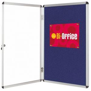 Display Case Felt Interior BI-OFFICE, 9xA4, 67x93cm, blue