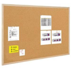 Tablica korkowa BI-OFFICE, 80x50cm, rama drewniana