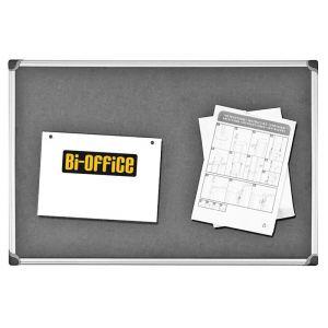 Tablica filcowa BI-OFFICE, 60x90cm, szara