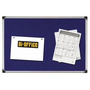 Tablica filcowa BI-OFFICE, 90x120cm, niebieska