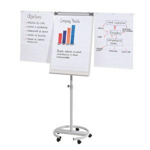 Flipchart mobilny FRANKEN, 68x110cm, tablica suchoś. -magn., z wyciąganymi ramionami