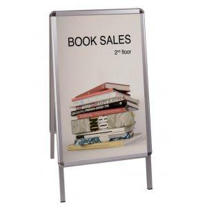 Tablica reklamowa BI-OFFICE, 59,4x84,1cm, podłogowa, dwustronna, biała