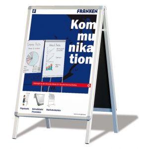 Tablica reklamowa FRANKEN, 64x100cm, podłogowa, dwustronna, rama alu., biała