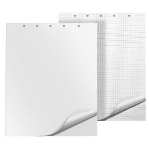Flipchart Pad Q-CONNECT, square ruled, 65x100cm, 20 sheets, white