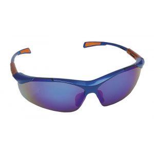 Okulary ochronne Nellore, szyba 1F - UV, lustrzanki niebieskie