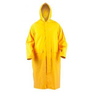 Płaszcz ochronny ekon. RainMan (BE-06-001), z kapturem, poliester, rozm. XL, żółty