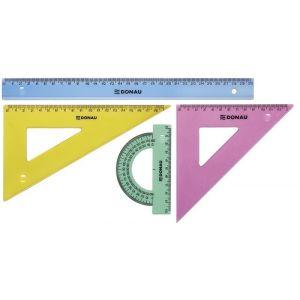 Zestaw geometryczny DONAU, duży, zawieszka, mix kolorów