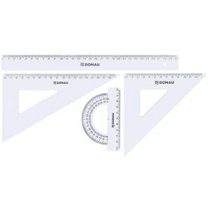 Zestaw geometryczny DONAU, duży, zawieszka, transparentny