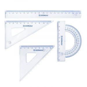 Zestaw geometryczny DONAU, mały, zawieszka, transparentny