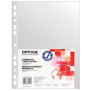 Koszulki na dokumenty OFFICE PRODUCTS, PP, A4, groszkowe, 30mikr., 100szt.