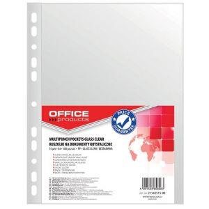 Koszulki na dokumenty OFFICE PRODUCTS, PP, A4, krystal, 55mikr., 100szt.