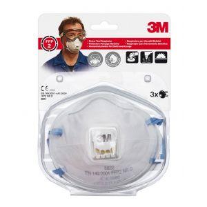 Półmaska ochronna z zaworkiem 3M Cool Flow FFP2 (8822), przeciw pyłom i mgłom