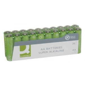Baterie super-alkaliczne Q-CONNECT AA, LR06, 1,5V, 20szt.